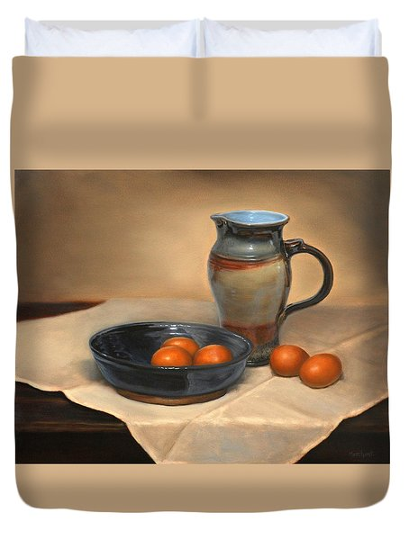 Eggs And Pitcher Duvet Cover