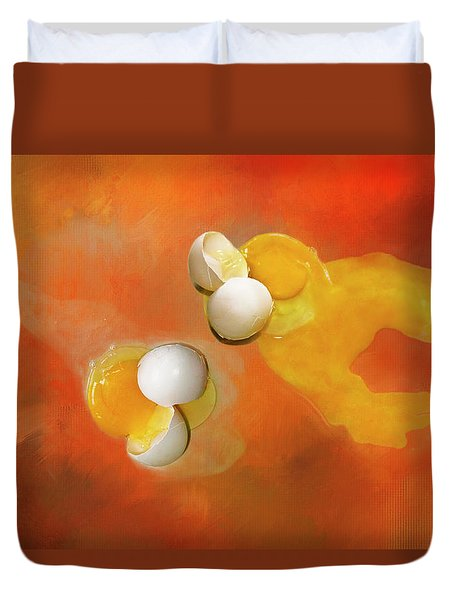 Eggs Duvet Cover by Carolyn Marshall