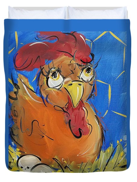 Eggs For Breakfast Duvet Cover