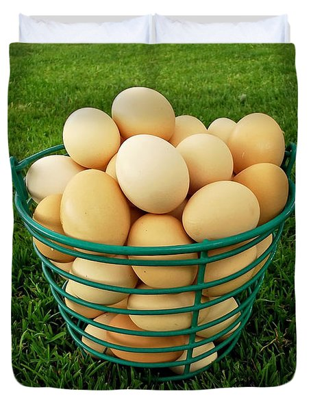 Eggs In A Basket Duvet Cover