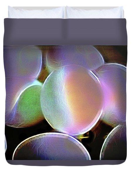 Eggs In A Fractal Mood Duvet Cover