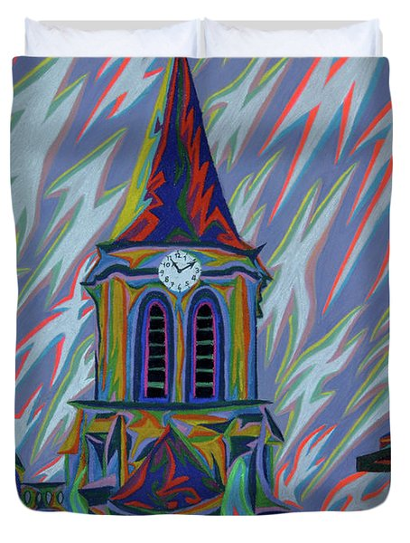 Eglise Onze - Onze Duvet Cover by Robert SORENSEN