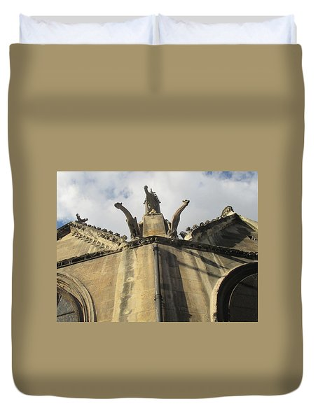 Duvet Cover featuring the photograph Eglise Saint-severin, Paris by Christopher Kirby
