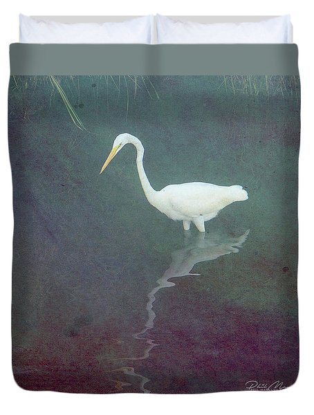 Egret Dreams Duvet Cover