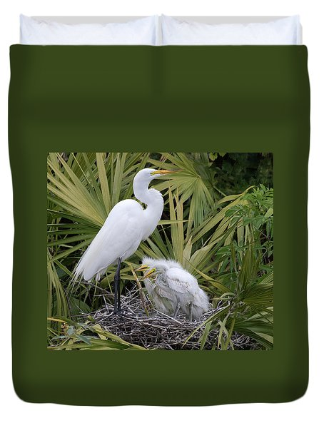 Egret Nest Duvet Cover