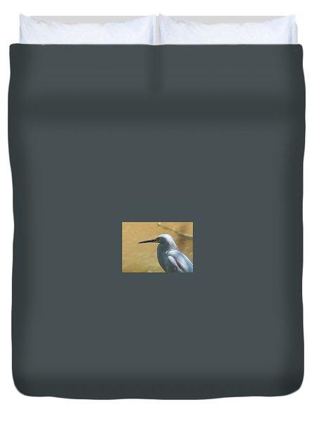 Egret Pose Duvet Cover