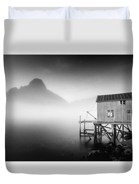 Egulfed By Mist Duvet Cover