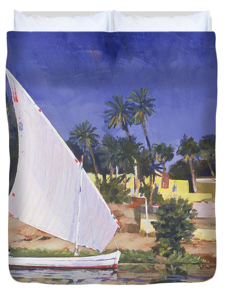 Egypt Blue Duvet Cover by Clive Metcalfe