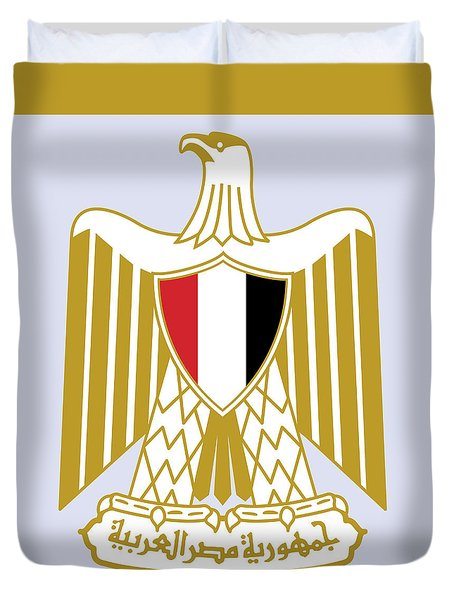 Egypt Coat Of Arms Duvet Cover by Movie Poster Prints