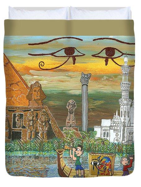 Egypt   Jan Duvet Cover