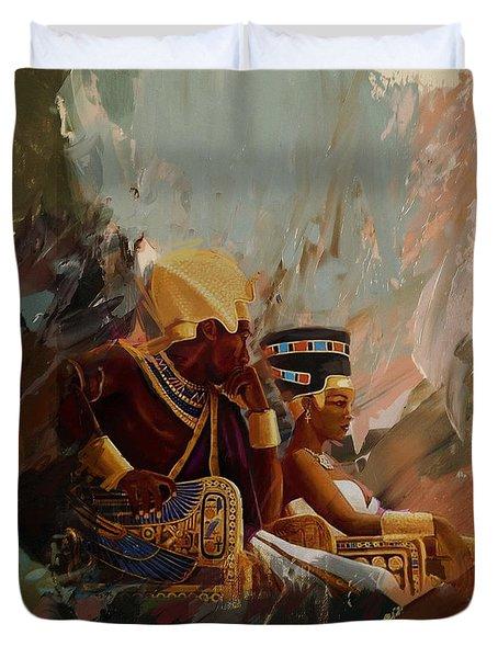 Egyptian Culture 44b Duvet Cover