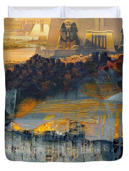 Egyptian Culture 46d Duvet Cover