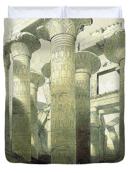 Egyptian Temple No 3 Duvet Cover