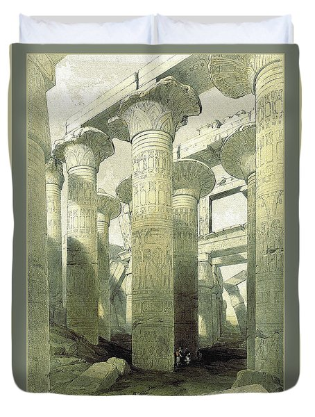 Egyptian Temple No 3 Duvet Cover