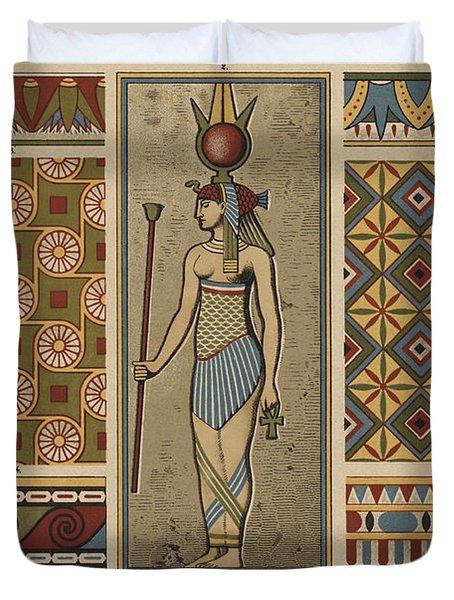 Egyptian Textile Patterns Duvet Cover
