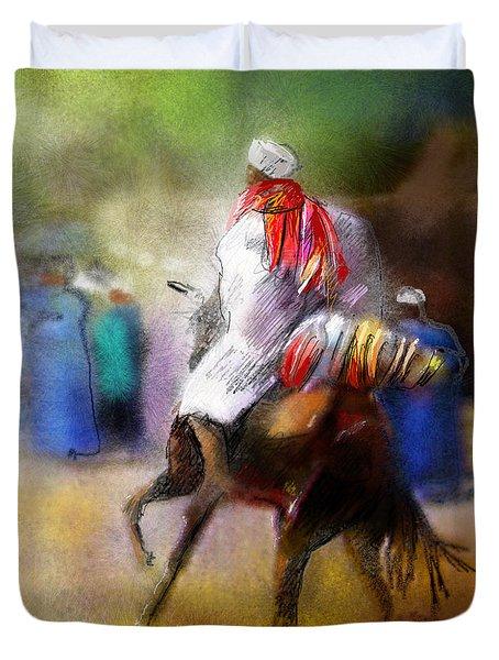 Eid Ul Adha Festivities Duvet Cover by Miki De Goodaboom