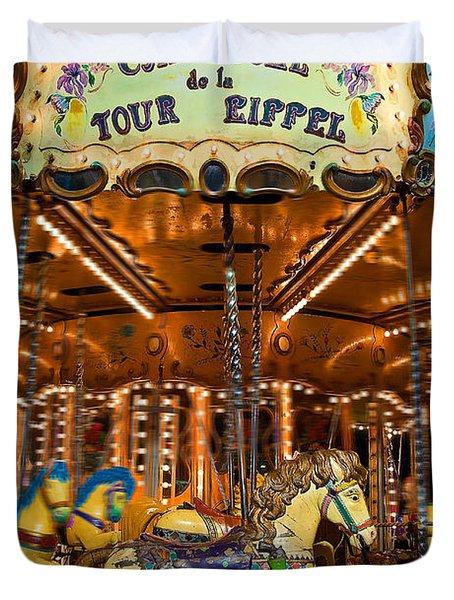 Eiffel Carrousel Duvet Cover