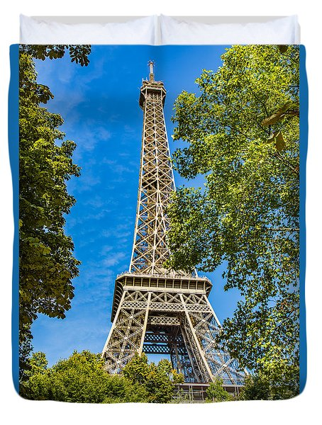 Eiffel Framed Duvet Cover by Kim Wilson