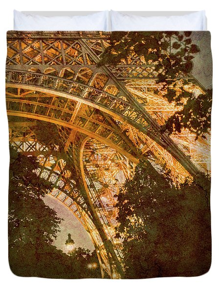 Paris, France - Eiffel Oldplate II Duvet Cover