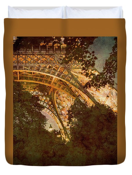 Paris, France - Eiffel Oldplate II Duvet Cover