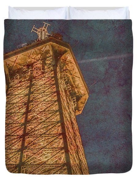 Paris, France - Eiffel Peak Duvet Cover
