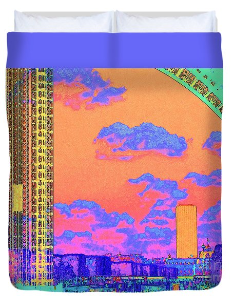 Eiffel Sunset Paris Duvet Cover