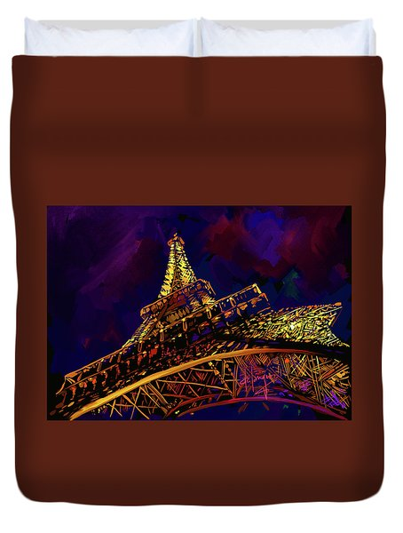 Eiffel Tower Duvet Cover by DC Langer