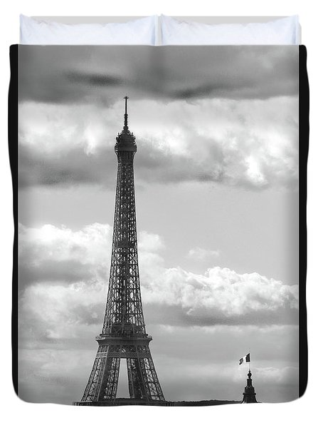 Eiffel Tower From Galeries Lafayette Rooftop Duvet Cover