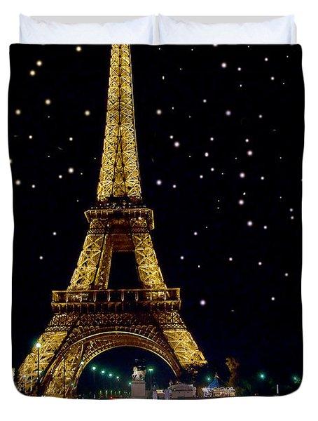 Eiffel Tower Duvet Cover