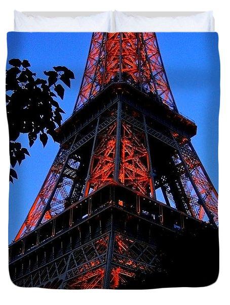 Eiffel Tower Duvet Cover by Juergen Weiss