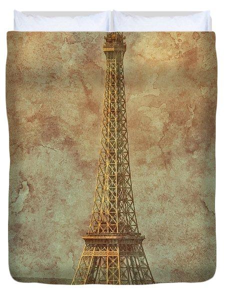 Paris, France - Eiffel Tower Duvet Cover