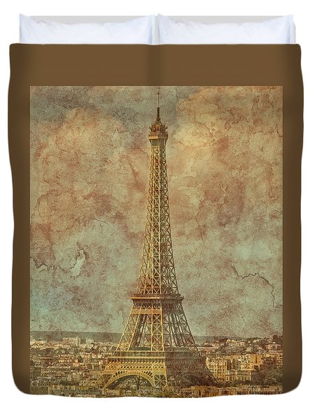 Paris, France - Eiffel Tower Duvet Cover