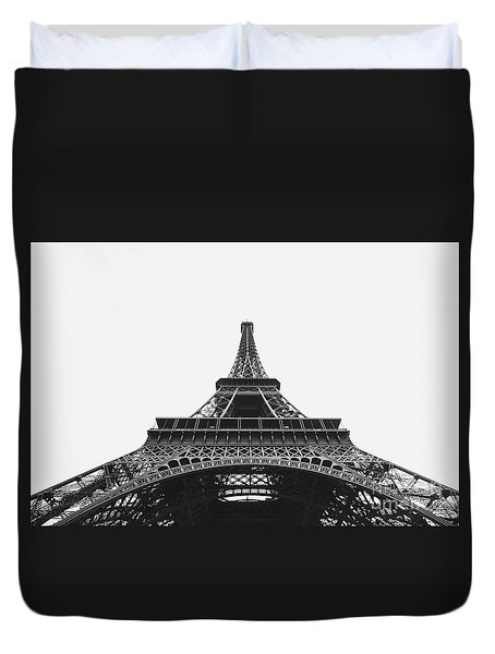Duvet Cover featuring the photograph Eiffel Tower Perspective  by MGL Meiklejohn Graphics Licensing