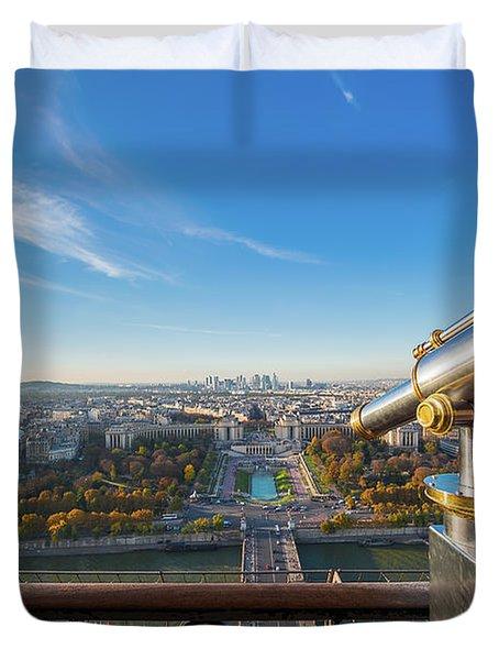 Eiffel Tower Telescope Duvet Cover