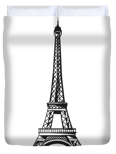 Eiffel Tower Up Duvet Cover by Stanley Mathis