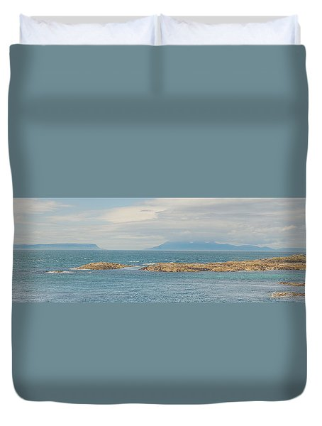 Eigg And Rum Duvet Cover by Ray Devlin