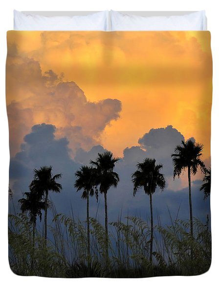 Eight Palms Duvet Cover by David Lee Thompson