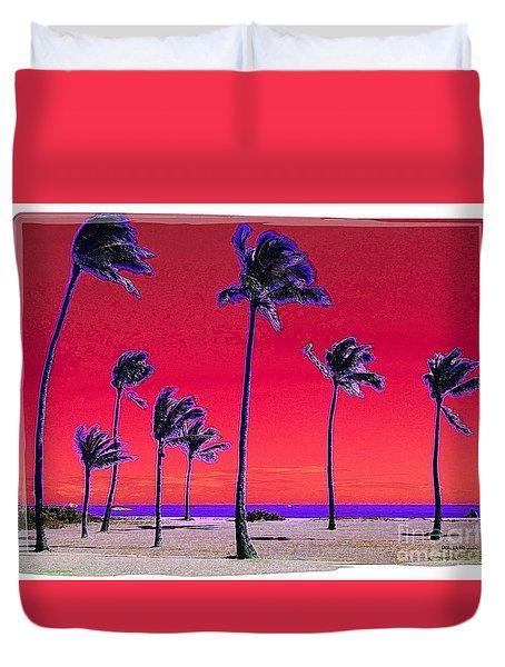 Eight Palms Duvet Cover