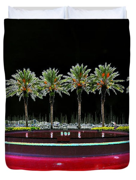 Eight Palms Drinking Wine Duvet Cover by David Lee Thompson