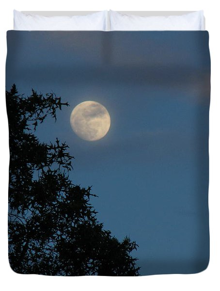 Duvet Cover featuring the photograph Eight Thirty Two Pm by Greg Patzer