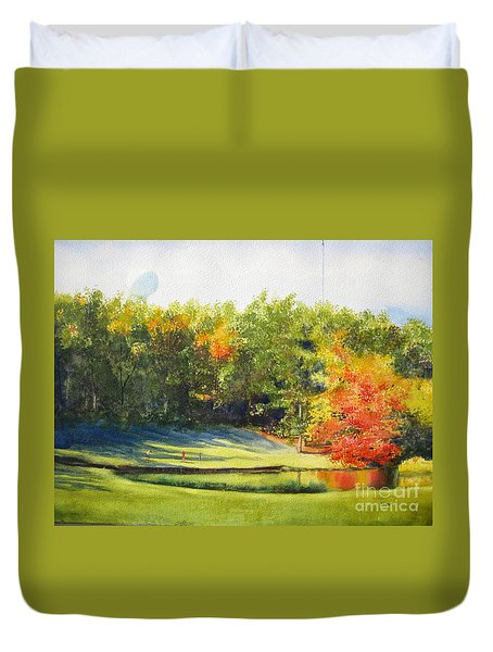 Eighteenth Hole Duvet Cover