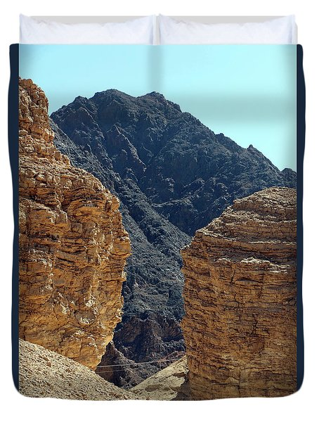 Duvet Cover featuring the photograph Eilat-israel by Denise Moore