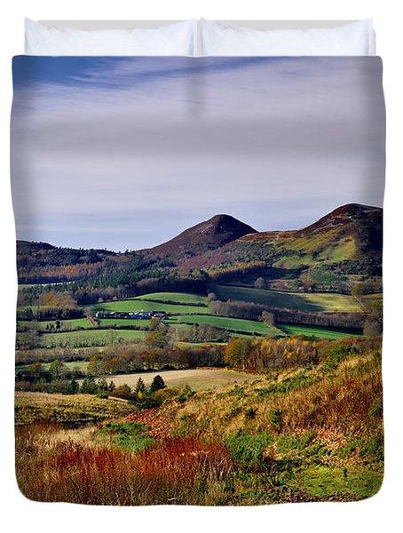 Eildon Hills Borders Scotland Duvet Cover