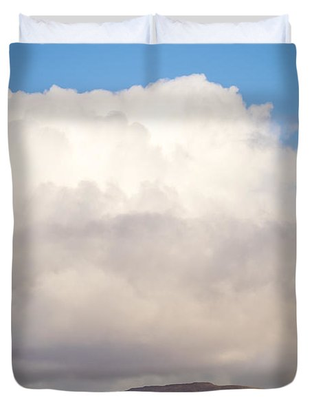 Eilean Musdile Lighthouse On Lismore Duvet Cover