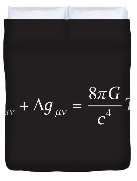 Einstein Field Equation Formula Duvet Cover