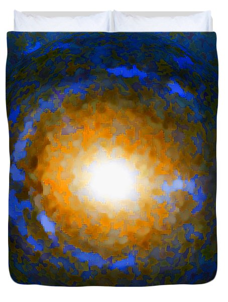 Duvet Cover featuring the photograph Einstein Ring Gravitational Lens by Renee Trenholm