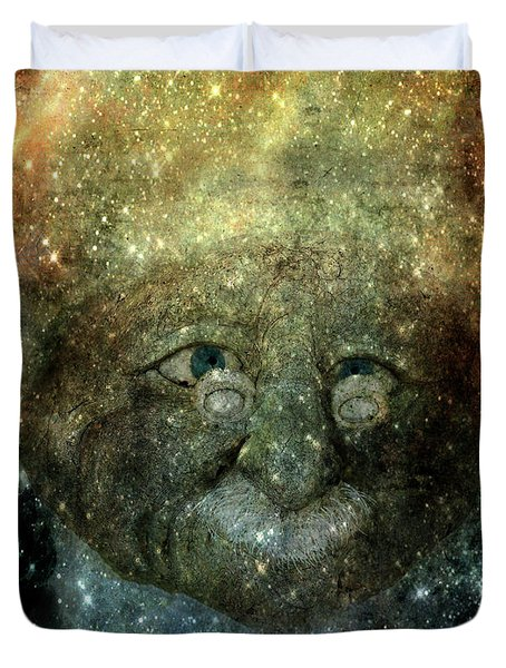 Einsteins Cosmic Travels Duvet Cover