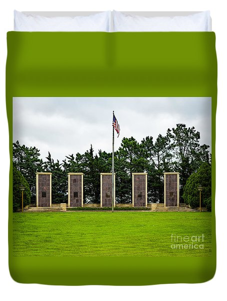 Eisenhower Museum W W I I Memorial Duvet Cover