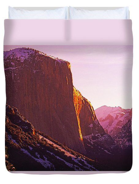 El Capitan And Half Dome, Yosemite N.p. Duvet Cover