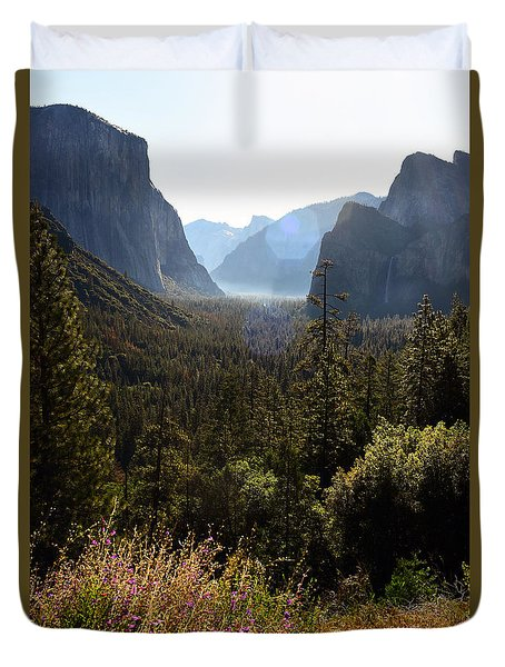 Duvet Cover featuring the photograph El Capitan And Yosemite Valley by MaryJane Armstrong